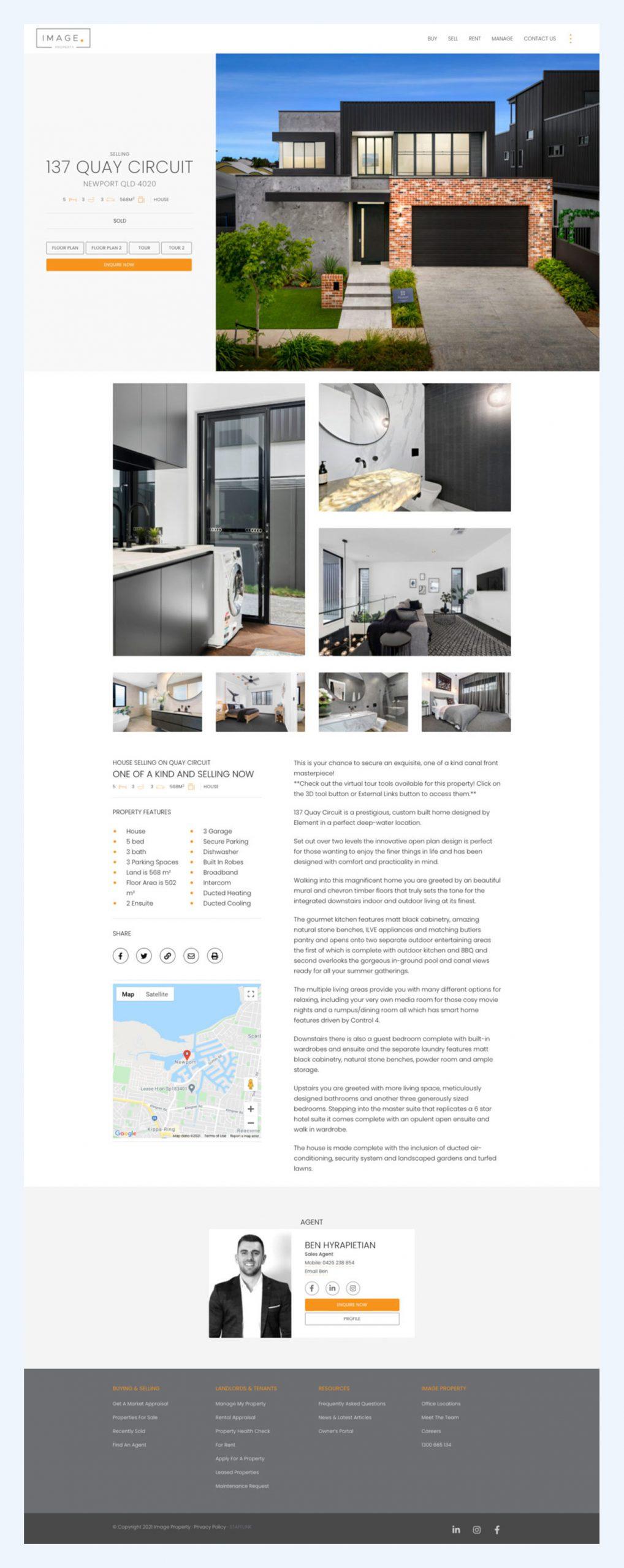 website design property listings